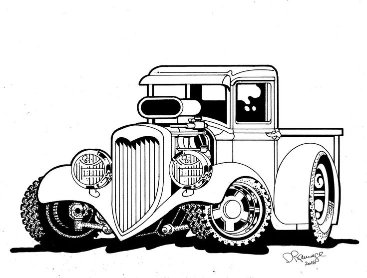 1091 best DAP of DRAWINGS of CARS & RODS (5) images on