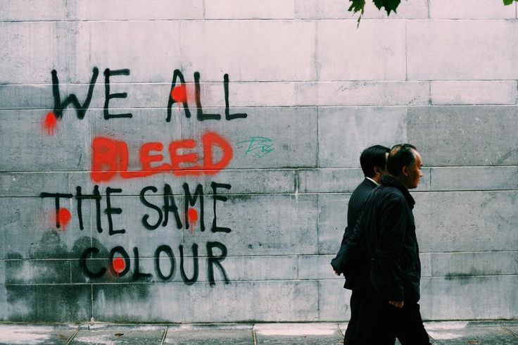 We all bleed the same colour. (A7RII and Voigtlander 50mm f1.5) #streetphotography #graffiti #mirrorless #Equals