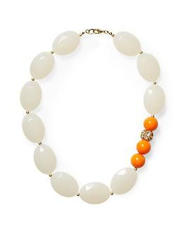 Piperlime Sabine Short Bead Necklace with that pop of orange I am just crazy about :)