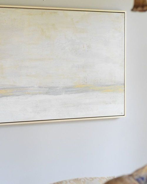 Large Framed Abstract Landscape Art In Muted Colors By Delie
