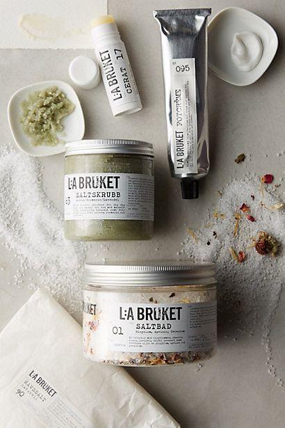 Give #swedish #spa style w/ L:A Bruket No. 63 Salt Scrub yum organic ingredients like rosemary, sale and olive! #anthroregistry - anthropologie.com