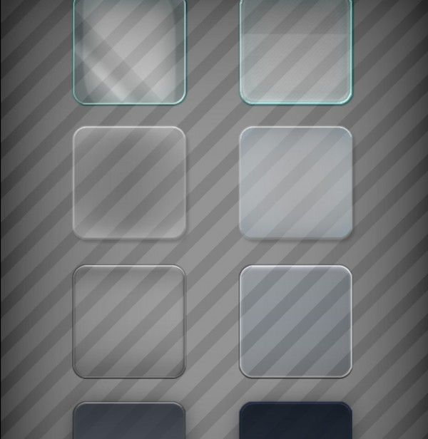glass effects design psd freebie