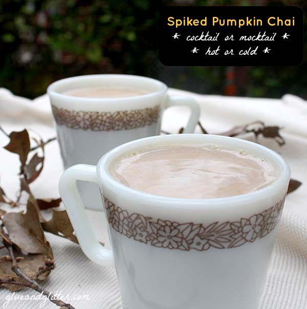 Pumpkin Cocktail: Spiked Pumpkin Chai
