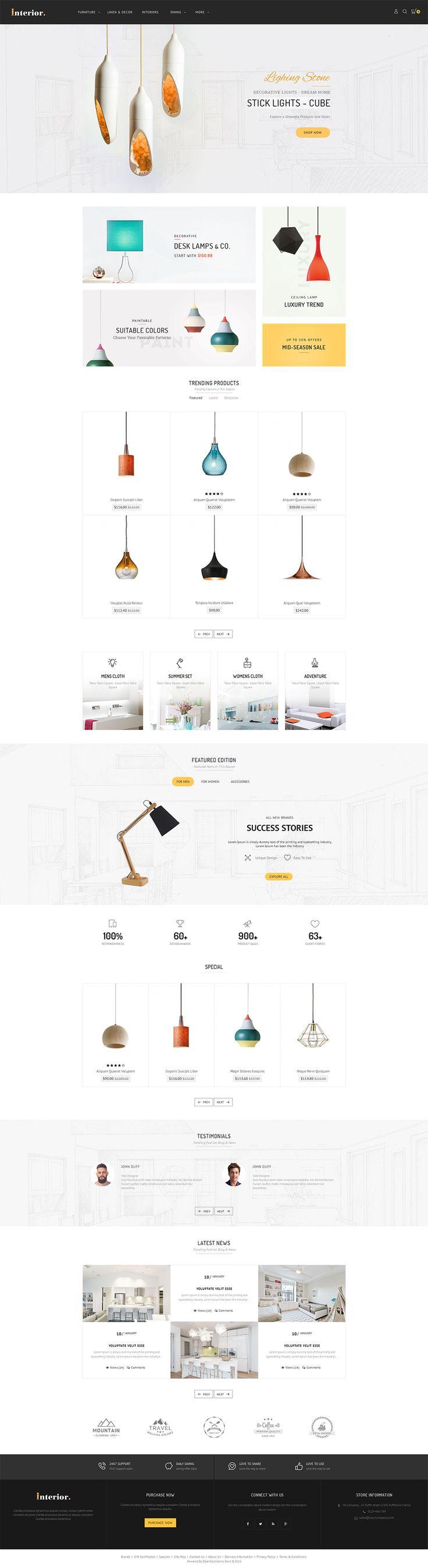 Interior - Opencart Multi Purpose Responsive Theme