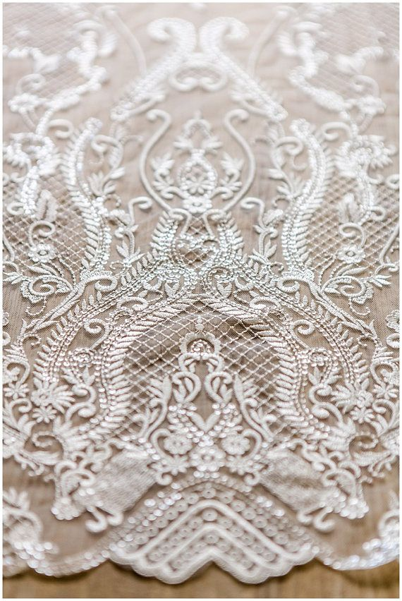 Very soft and beautiful ornament lace with net elements