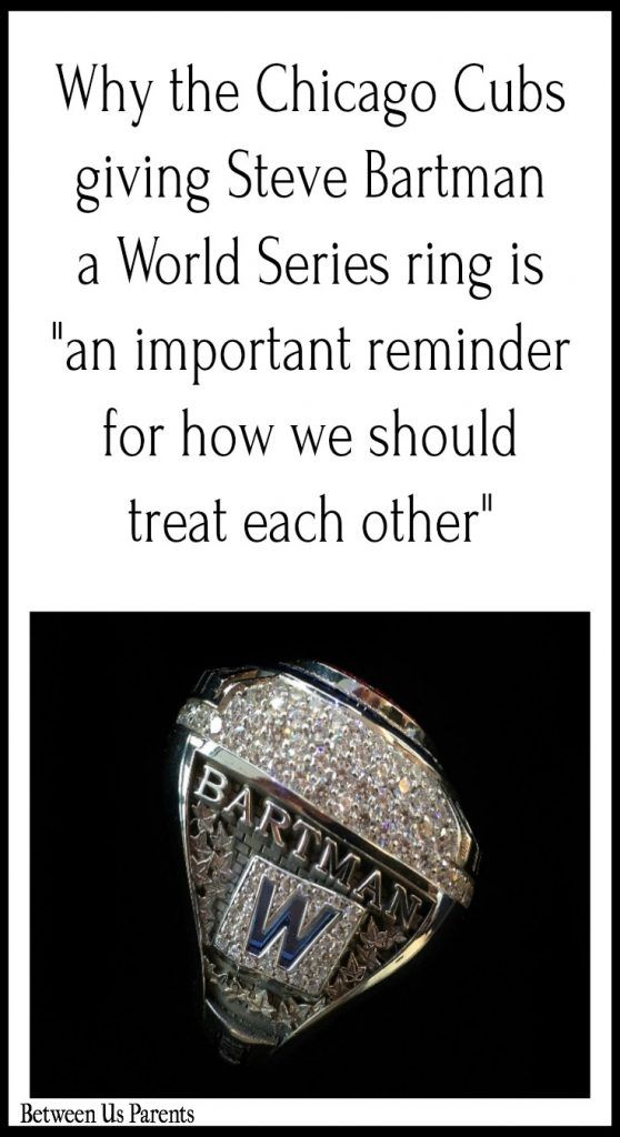 "Why the Cubs giving Steve Bartman a World Series ring is ""an important reminder for how we should treat each other"""