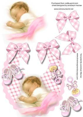 A Beautiful little baby boy on a bib on Craftsuprint - Add To Basket!