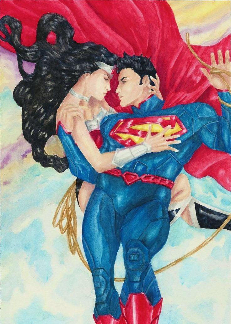 Superman and Wonder Woman by ~SPITEREDESCENT on deviantART ...
