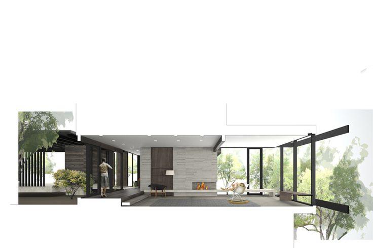 SECTION PERSPECTIVE - MW Works | laurelhurst residence rendering