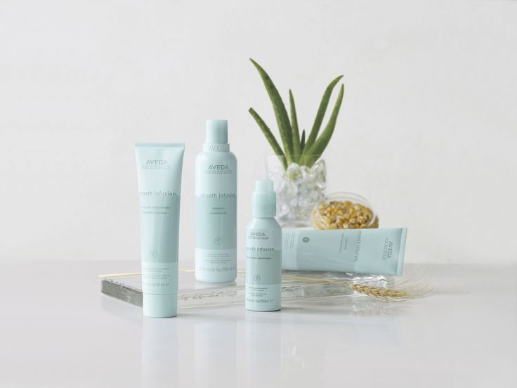 #AVEDA Smooth Infusion System. Shampoo + Conditioner + Style Prep Smoother + Glossing Straightener.