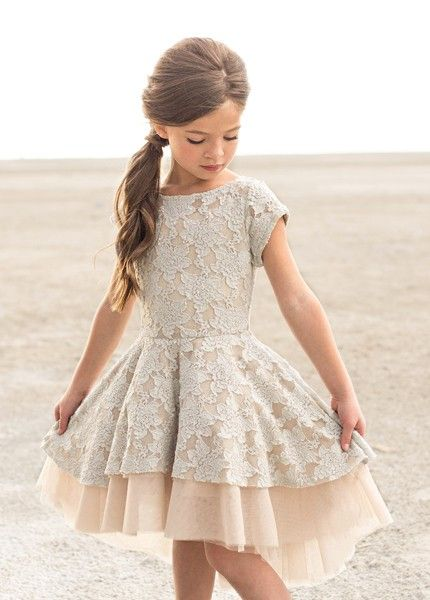 *NEW* Etta Dress in Champagne - Ma Petite