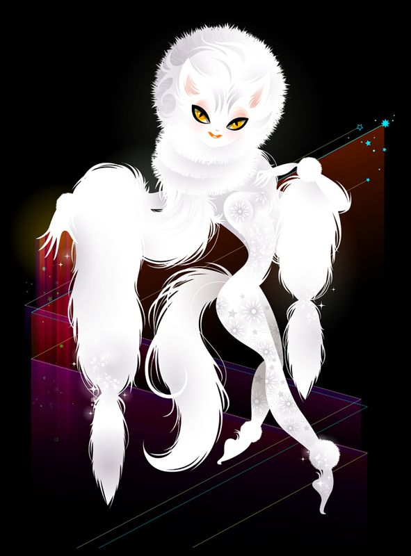 Overnight #whitecat #cats #showgirl