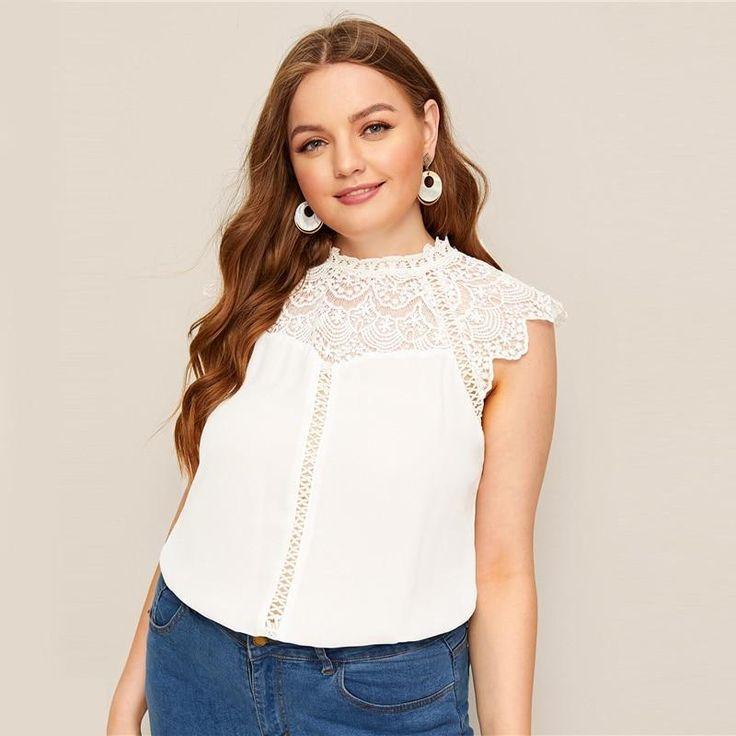 Women's Summer Lace Blouse | Plus Size | ZORKET | #casual #womensfashion 1