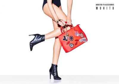 red bag and black lether boots