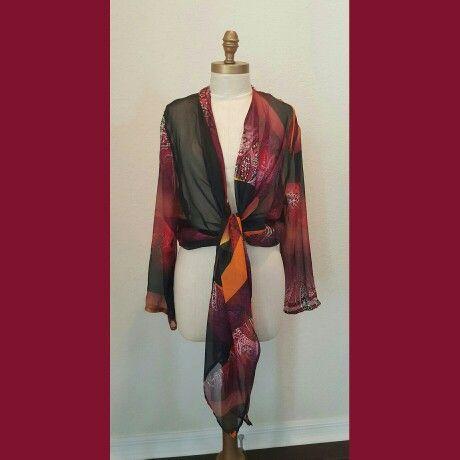 Caryna Nina Shawl jacket in silk chiffon. very ETRO