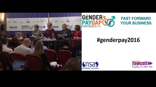 Panel discussion 1 of the Gender Pay Gap National Conference 2016 #genderpay2016 featuring:  Ann Francke, Chief Executive, Chartered Management Institute  Sam Smethers, Chief Executive, The Fawcett Society Sheila Wild, Founder, Equal Pay Portal  Ben Willmott, Head of Policy and Public Affairs, CIPD  Panel discussion 1 of the Gender Pay Gap National Conference 2016. #genderpay2016