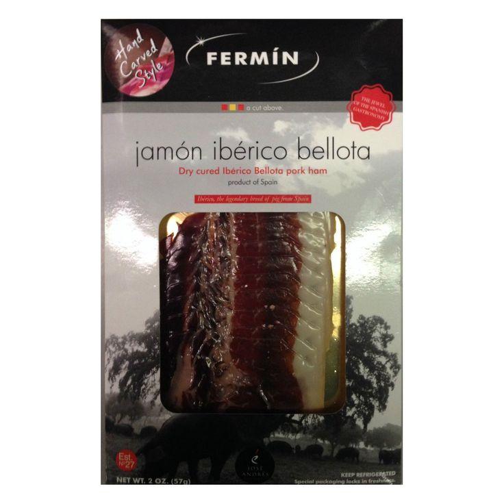 Fermin: Jamon Iberico de Bellota Pre-Sliced (2 oz / 60 grams sliced) @ https://houseofcaviarandfinefoods.com/gourmet-meats/fermin-jamon-iberico-de-bellota-pre-sliced-2-oz-60-grams-sliced-detail #caviar #blackcaviar #finefoods #gourmetfoods #gourmetbasket #foiegras #truffle #italiantruffle #frenchtruffle #blacktruffle #whitetruffle #albatruffle #gourmetpage #smokedsalmon #mushroom #frozenporcini #curedmeets #belugacaviar #ossetracaviar #sevrugacaviar #kalugacaviar #freshcaviar #finecaviar