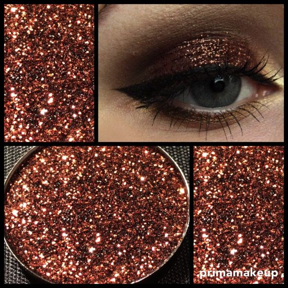 Hot Chocolate Brown Multi Tonal Pressed Glitter Eyeshadow