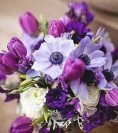 Boho purple and white