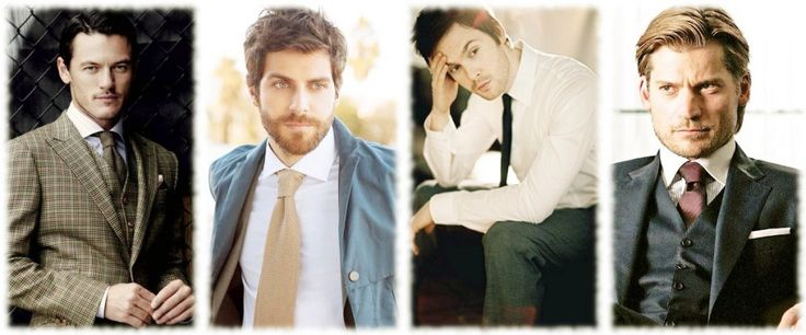 Can I just...with that tie... Luke Evans, David Giuntoli, Tom Riley, Nikolaj Coster-Waldau