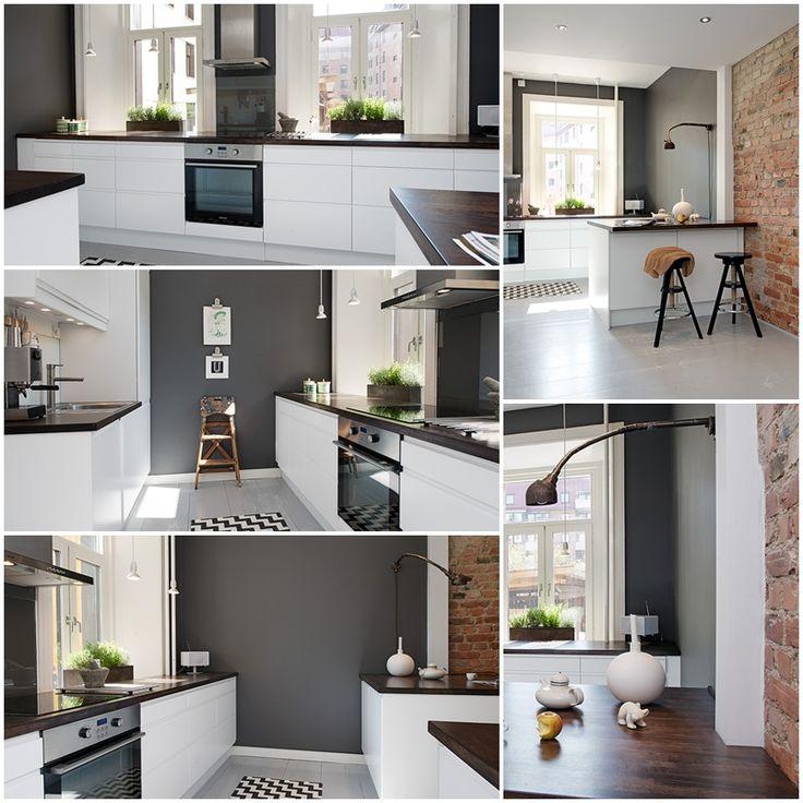 Grått/vitt kök