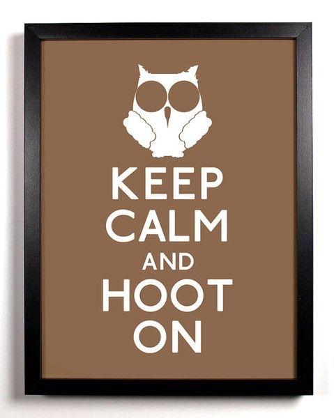 keep calm owl