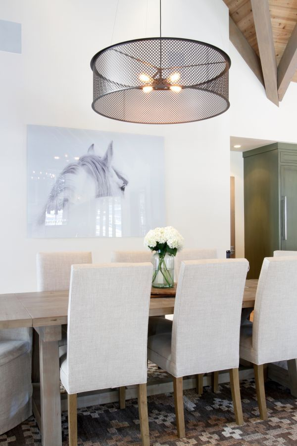 25+ Photos of elegant drum lights over dining room table Various Types