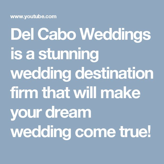 Del Cabo Weddings is a stunning wedding destination firm that will make your dream wedding come true!