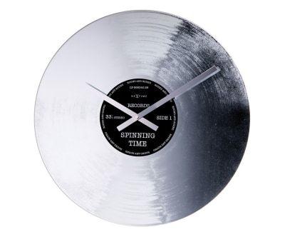 Настенные часы SILVER RECORD- стекло, Ø43 см