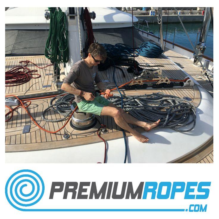 Splicing ropes on board of a Perini Navi #yacht #rigging #splicing #stirotex #fid #rigger #polman #riggingservices #fitting #premiumropes #premium #dyneema #ropes #yachtrigging #rigger #international #megayacht #sailingyacht #sailing #superyacht #perininavi