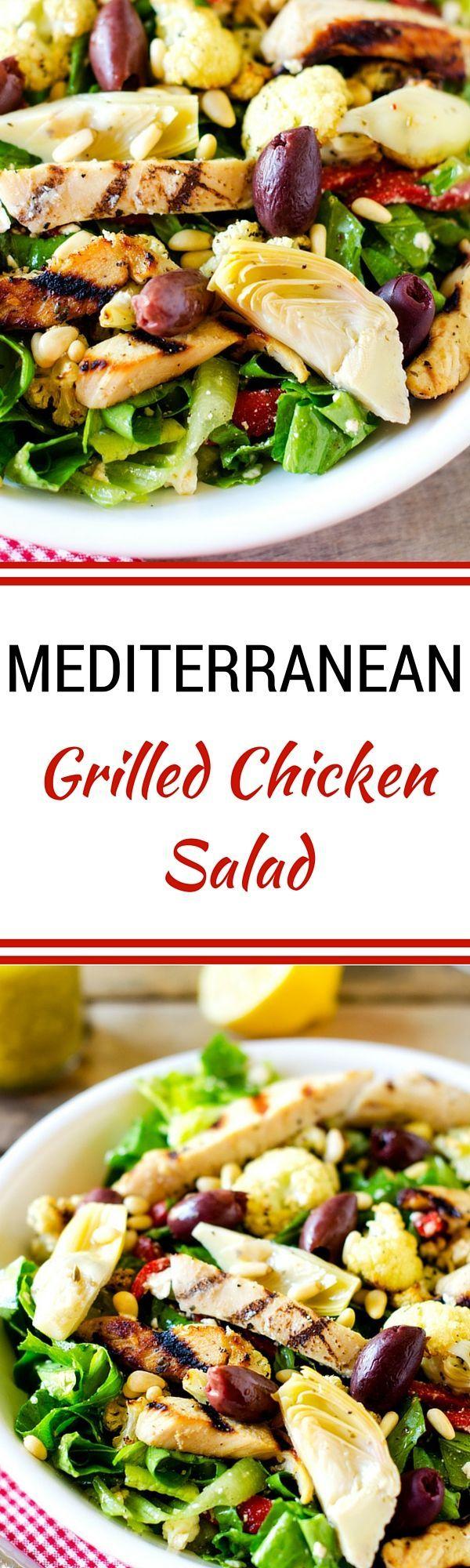 Mediterranean Grilled Chicken Salad - @natureraised #natureraisedrecipes #ad