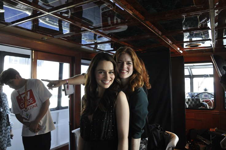 Emilia Clarke and Rose Leslie of Game of Thrones