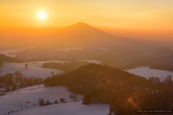 National park Czech Switzerland - Sundown  at Czech-Saxon Switzerland (Cesko-saske svycarsko / bohmische-sachsische Schweiz), Germany / Czech republic from famous view.