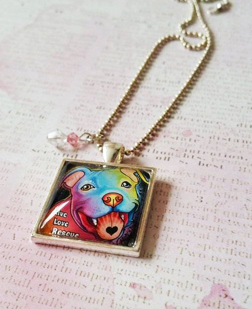 110 best pit bull jewellery images on pinterest pit bull pit pitbull pendant necklace by brittanyfarinaart on etsy aloadofball Gallery
