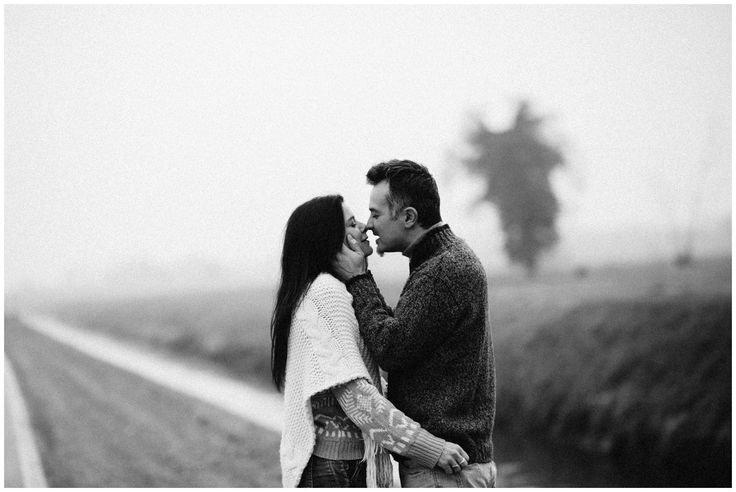 Winter, Fog and Love | Love session - Serena Genovese photography - kiss #passion