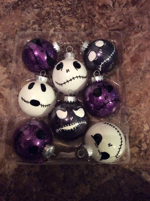 Nightmare before Christmas ornaments by CassiesCatastrophes