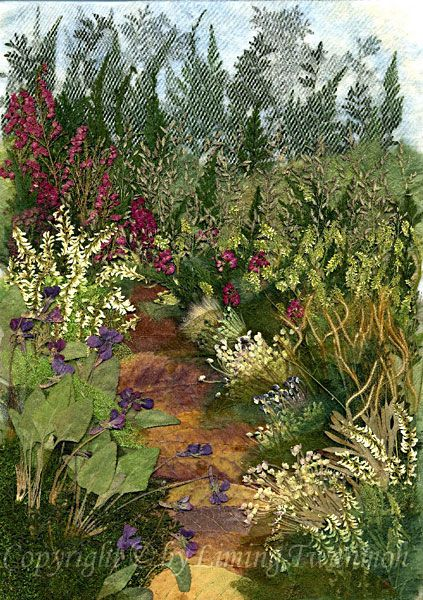 Pressed Flower Art - Landscape pictures - Pressed Flora
