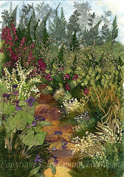 Pressed Flower Art - Landscape pictures - Pressed Flora