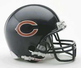 Chicago Bears Helmet Riddell Replica Mini VSR4 Style