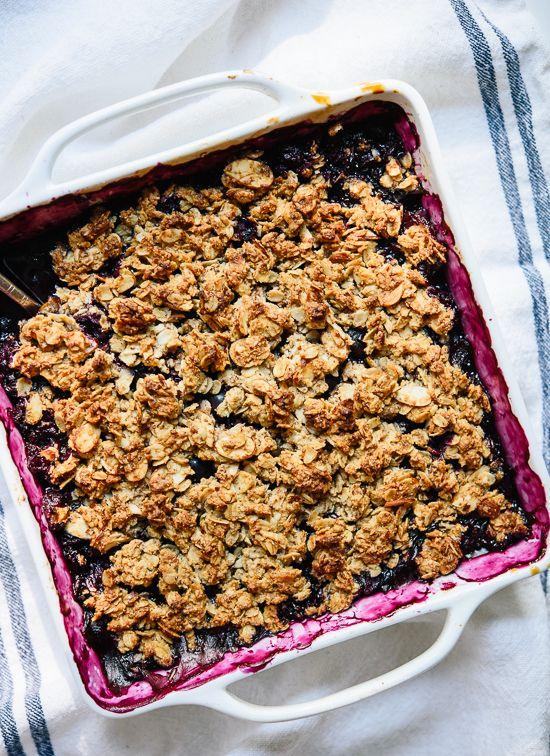Blueberry crisp recipe, so simple!
