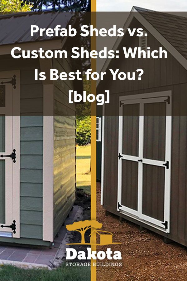 Prefab Sheds Vs Custom Sheds Which Is Best For You In 2020 Prefab Sheds Custom Sheds Shed