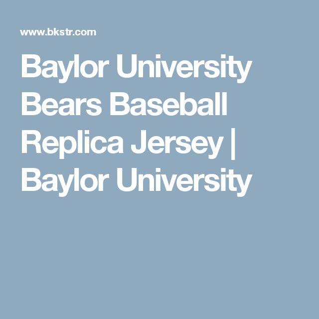 Baylor University Bears Baseball Replica Jersey   Baylor University