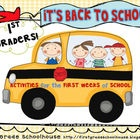 It's Back to School First Graders! is a first grade packet of literacy and fun activities for the first weeks back to school. A literature-based ac...