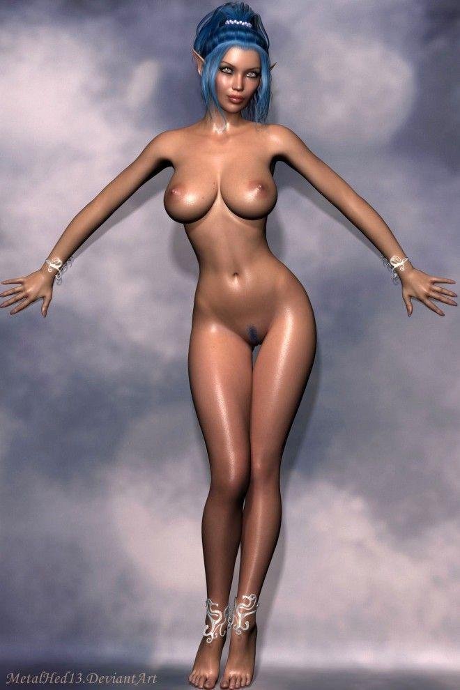 Сексуальные рисованные голые эльфийские девушки | Порно картинки и секс фото