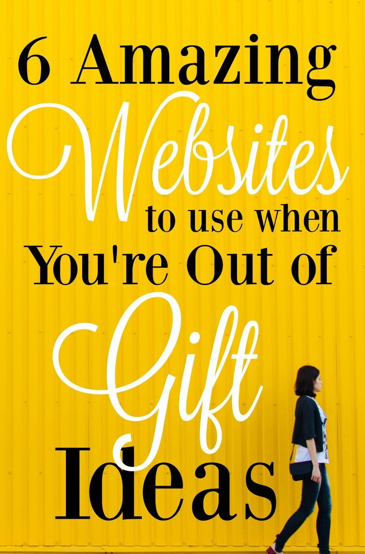These sites are the absolute best for finding gift ideas for the person who has everything! They're brilliant! // MBA SAHM