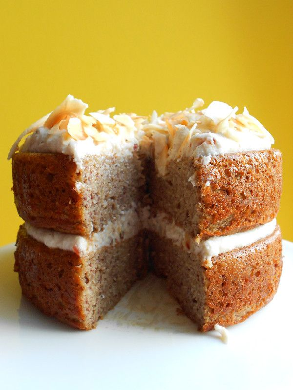 Paleo Banana Cake with Coconut Whipped Cream #culinarycouture