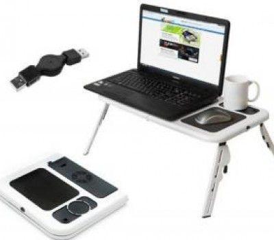 NOUA masuta de laptop E-table, cu ventilatoare incluse si  incarcare USB