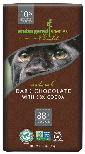 Endangered Species offer the best  Endangered Species , Dark Chocolate (88%), 3-Ounce Bars (Pack of 12). This awesome product currently 3 unit available, you can buy it now for $33.48 $25.49 and usually ships in 24 hours New