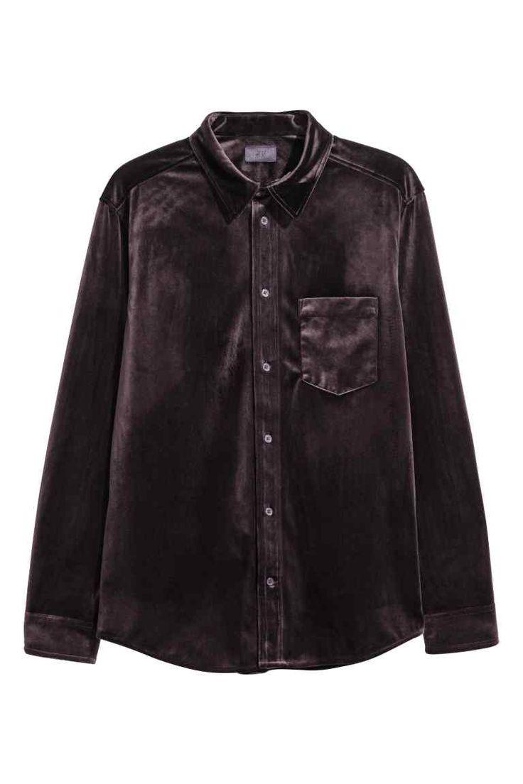 Overhemd - Donkerpaars - HEREN   H&M NL