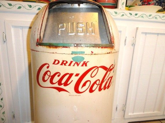 Coca Cola Bin ; I would love to have this to sit outside the house